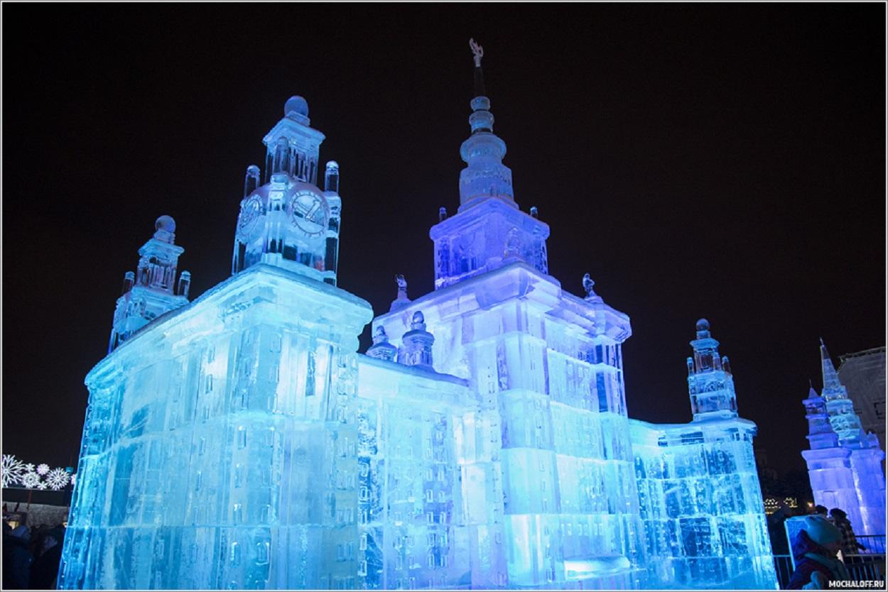 авто поклонная гора ледяные скульптуры картинки итоге